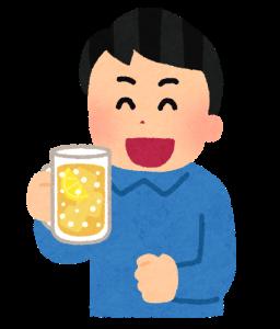 ビールを持った男性